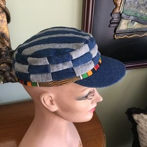Blue and Grey Handmade cap from Bermuda